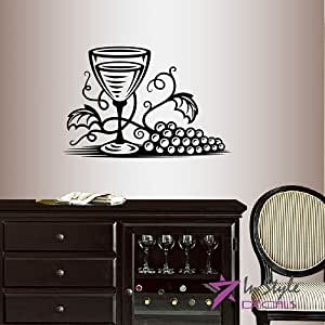 Wall vinyl decal home decor art sticker glass for Dining room wall art amazon
