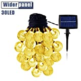 Solar String Lights 20 Feet with 30 LED Warm White Waterproof Indoor Outdoor Décor