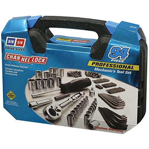 Channellock 39070 94 Pc. Mechanic's Tool Set, Chrome Vanadiu