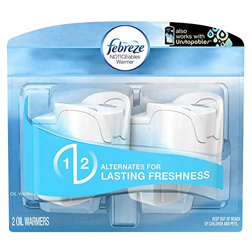 Febreze Air Freshener, Noticeables Air Freshener, Dual Scented Oil Warmer, 1 Pack of 2