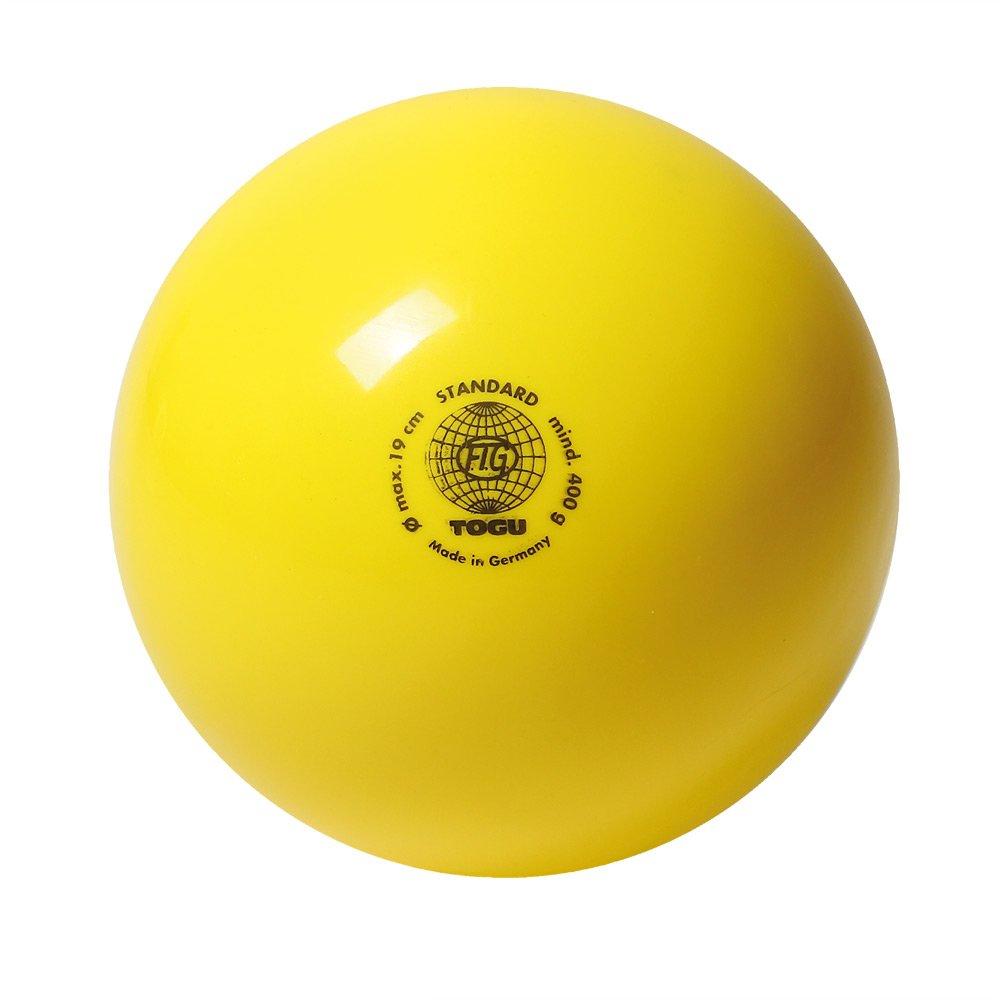Gymnastikball Standard, unlackiert Gelb 16 430403 TOGU