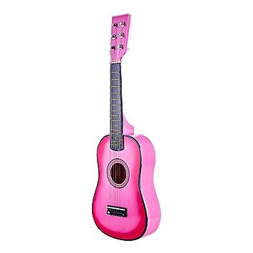 """YVSoo 23"""" Guitarra Juguete para Niños 6 Cuerdas Guitarra Electrica Infantil Instrumentos Musicales Educativos Simulación"""