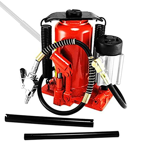 Tooluxe Tools 20 Ton Hydraulic Air / Manual Bottle Jack - 20 Ton Air