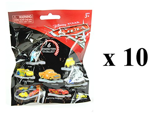 Disney Pixar Cars 3 Collectible Figures Mystery Blind Party Bags Pack of 10