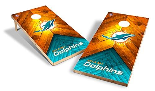 Wild Sports NFL 2'x4' Miami Dolphins Cornhole Set