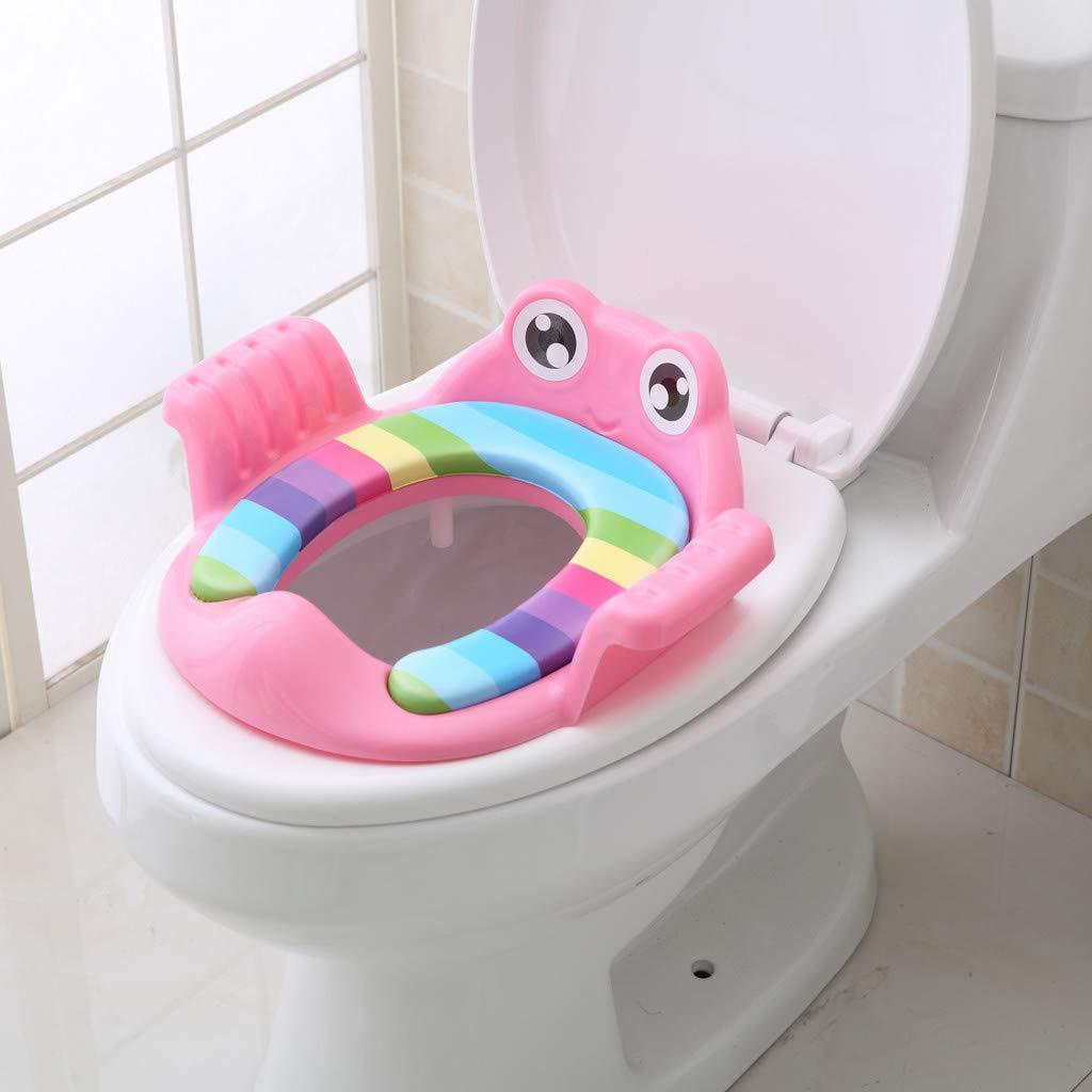 Kindertoilettensitz abnehmbar /& waschbar Toiletten-Training-Sitz mit weichen Softsitz Toilettentrainer Exclusiv Toilettensitz mit rutschfesten F/ü/ßen WC-Aufsatz mit zwei Haltegriffe