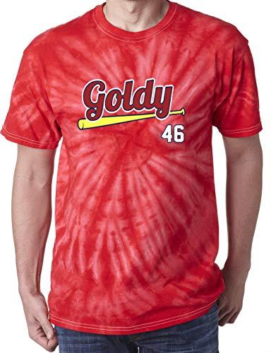 TIE-DYE RED St Louis Goldschmidt Goldy T-Shirt Adult