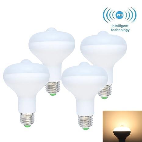4X E27 9W LED infrarrojos Detección de movimiento Luz Sensor Pir Luz Bombilla Auto conmutador Escaleras