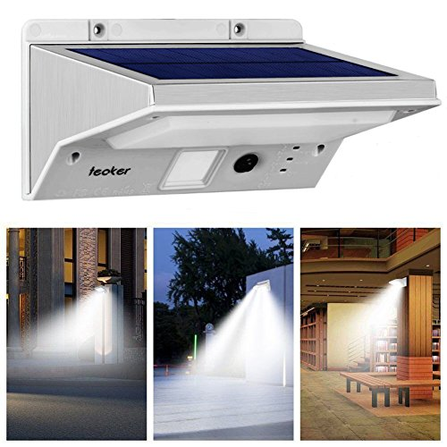 Solar Motion Sensor Lights Outdoor, Teaker Super Bright 21 LED Solar Powered Security Flood Light, Wireless Waterproof Solar Wall Light 3 Modes Motion Activated for Patio Yard Driveway Garden