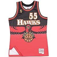 fan products of Mitchell & Ness Dikembe Mutombo 1996-97 Atlanta Hawks Swingman Red Jersey Men's