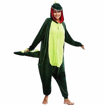 HARRYSTORE Pijama Buho De Franela De Invierno Para La Práctica Ropa de Dormir Unisex (Verde
