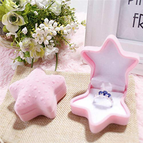 Tuscom Personality and Creativity Gift Young Star Premium Velvet Container|for Ring Stud Earrings Marriage Ring Box|6.5 x 6.5 x4cm Jewelry Container (2 Colors) (Pink) (18'w Patio Outdoor Cushion)