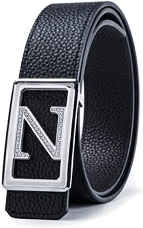 DENGDAI Mens Belt Cowhide Belt