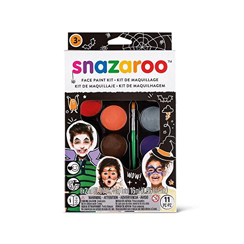 Snazaroo Face Paint Palette Kit, - Paint Remover Latex 5