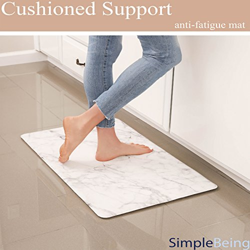 Simple Being Anti Fatigue Kitchen Floor Mat, Comfort Heavy Duty Standing Mats, Ergonomic Non-Toxic Waterproof PVC Non Slip Washable For Indoor Outdoor by Simple Being (Image #1)