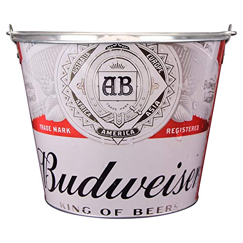 Beer Brand Full Color Aluminum Beer and Ice Bucket (Budweiser