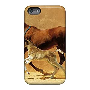 LeoSwiech Apple Iphone 6 Perfect Hard Cell-phone Cases Provide Private Custom Attractive Mare And Foal Pictures [iFj18543Hjqv]