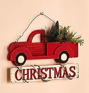 Vintage classic holiday decor wall hanging for Christmas wall art amazon