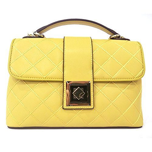 Lady Purses and Handbags Little Bow Leisure Top-Handle Bags Shoulder Bag Purse (Light Yellow) (Purse Bow Handbag)