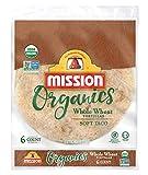 Mission Organics Tortillas, Whole Wheat, Soft Taco 10.5 oz, pack of 1
