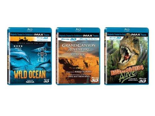 IMAX 3D Bundles (Grand Canyon Adventure / Dinosaurs Alive! / Wild Ocean) [Blu-ray]