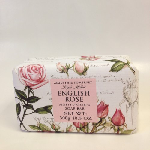 (Asquith and Somerset Triple Milled English Rose Moisturising Soap Bar 300g 10.5 Oz)