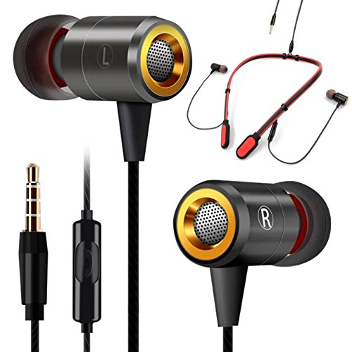 GOGOSODU Neckband Earphones with Microphone in-Ear Sports Headphones