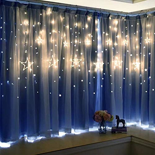 BATOP 2.5m Christmas led Lights ac 220v Romantic Fairy Star led Curtain String Lighting for Holiday Wedding Garland Party Decoration