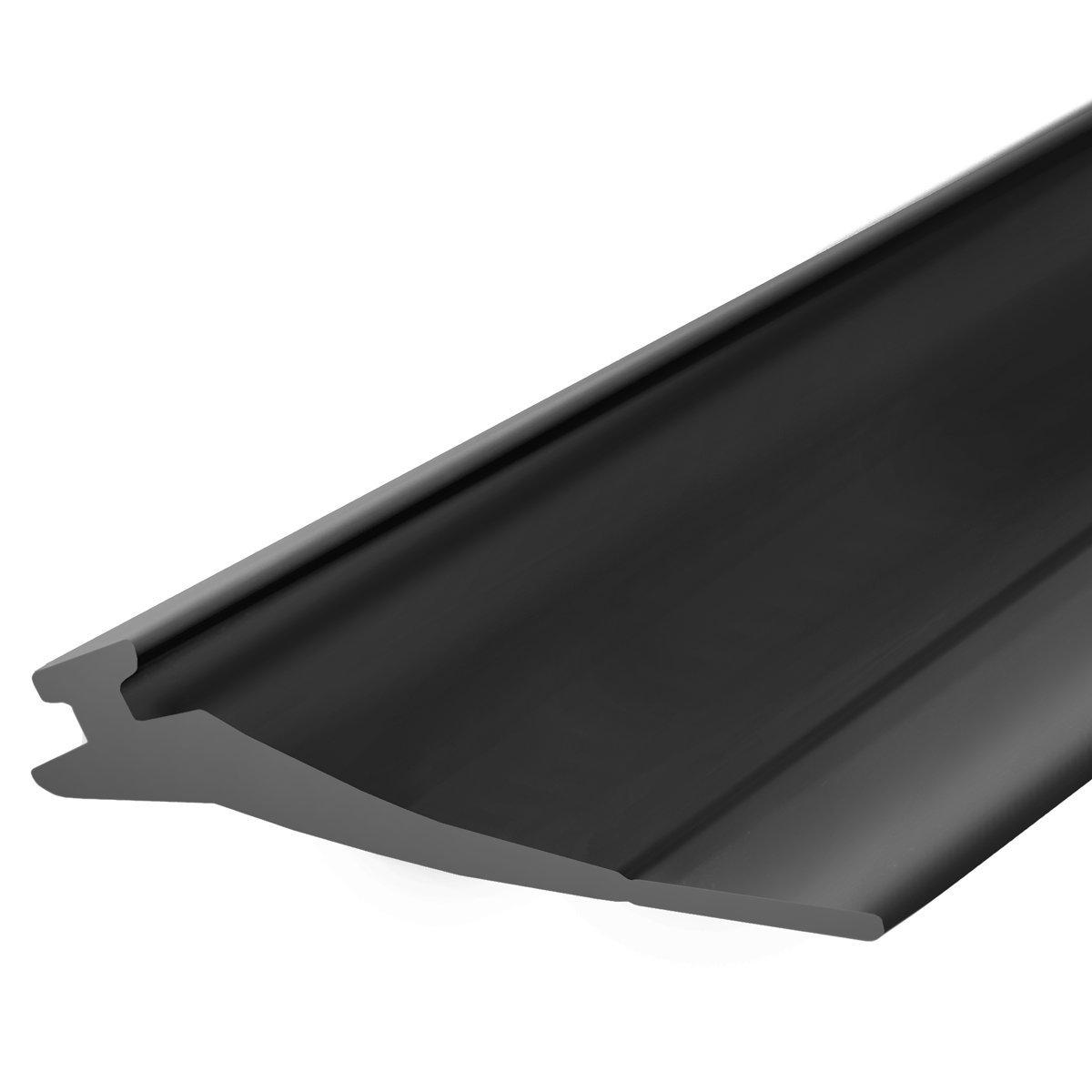 STEIGNER Garage Door Weather Seal SBD03 Garage Gate Seal Insulation, Black, 52x2 mm, 3,5 m