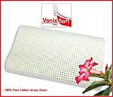 Latex foam pillow with anatomic cervical wave removable made in Italy by venixsoft