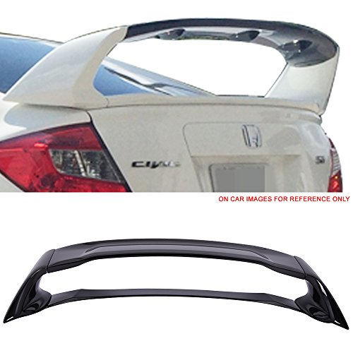 - Pre-painted Trunk Spoiler Fits2012-2015 Honda Civic | Painted #NH731P Crystal Black Pearl ABS Car Exterior Rear Spoiler Wing Tail Roof Top Lid other color available by IKON MOTORSPORTS