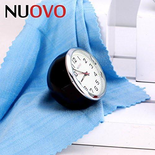 [スポンサー プロダクト]NUOVO 置き時計 卓上 時計 ピンク 車用 小型 クオーツ時計 アナログ表示 子供用