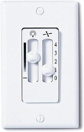Off White Hunter Fan Company Hunter 27182 Fan//Light Dual Slide Fan//Light Control