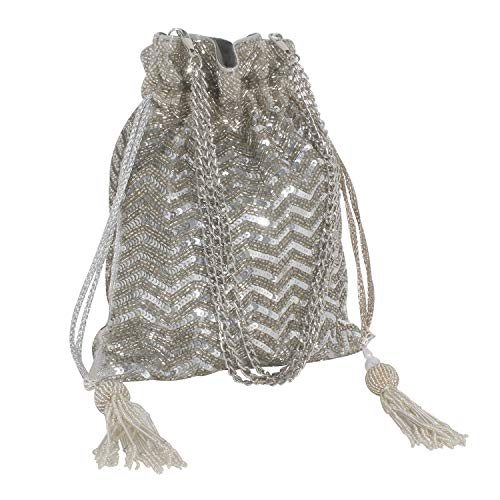 PinkCocktail Kattdaana Ethnic Designer Potli Bag with a Chain Handle