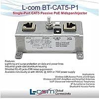 L-Com BT-CAT5-P1 Single-Port CAT5 Passive PoE Midspan/Injector