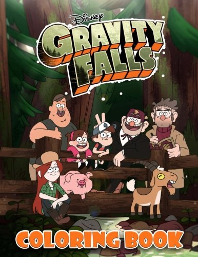 Gravity Falls Coloring Book: Disney, great activity book for kids and adults (40 illustrations)