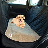 Dog Gone Dog Hammocks Pet Seat Cover with Beige Soft Washable Fleece Mat - 2 Piece Set - Waterproof - Nonslip + Seat Flaps - 58