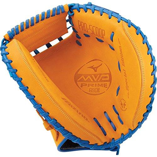 Mizuno MVP Prime GXC50PSE6 Baseball Catcher's Mitts, Size 34, Cork/Royal by Mizuno
