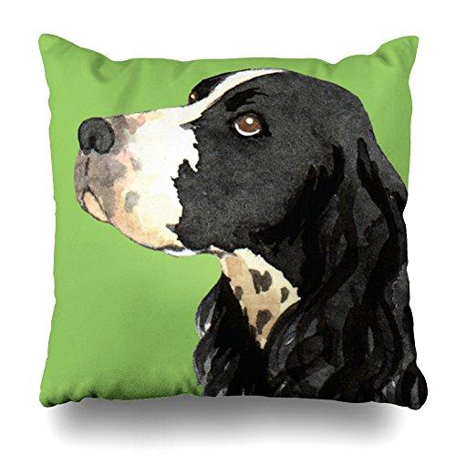 ONELZ I Love My English Springer Spaniel Square Decorative Throw Pillow Case, Fashion Style Zippered Cushion Pillow Cover £¨18 x 18 - Springer Spaniel Pillow