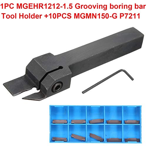 AFCN Hot Sale 1Set MGEHR1212-1.5 100mm Grooving Boring Bar Tool Holder with 10pcs MGMN150-G Inserts For Facing Cutter Turning Tool