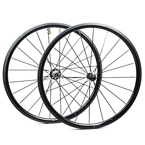Yuanan 38mm Aero Carbon Wheel Tubular Clincher Tubeless For Climbing Road Bike Wheelset Powerway R36 hub