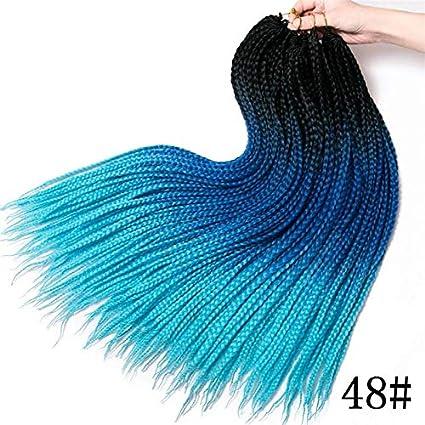Ombre 3S - Extensiones de pelo sintético de ganchillo para mujer ...