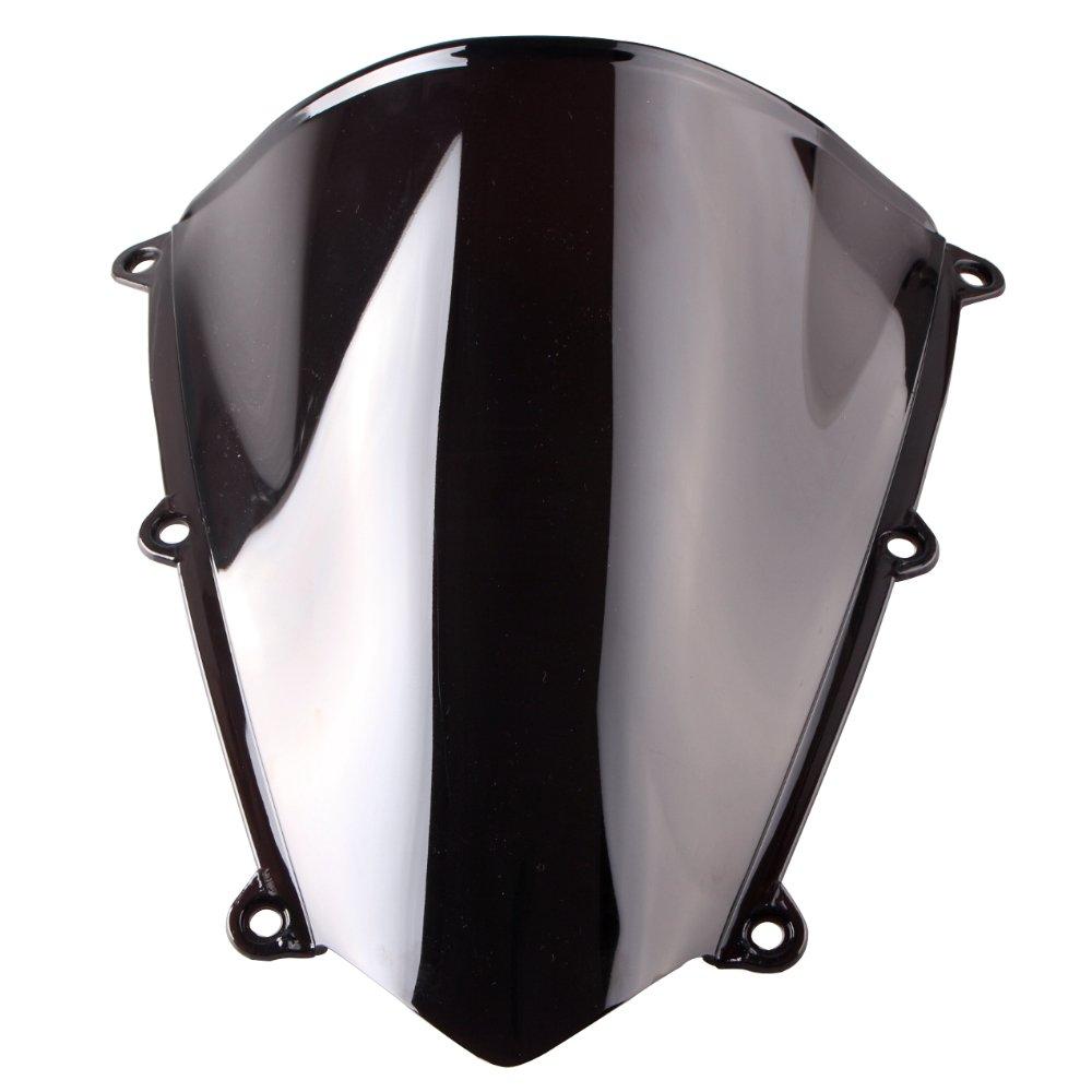 GZYF Smoke ABS Plastic Windshield Windscreen Fit Honda CBR 600RR F5 2007-2011 Black 07 08 09 10 11 65YF001
