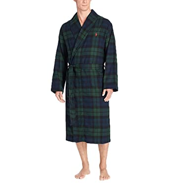S Mens Lauren Amazon Green Robe Flannel Long Plaid Polo Ralph At x8EOqwxF