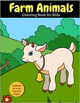 Farm Animals Coloring Book For Kids 2x Images For Double Fun 50