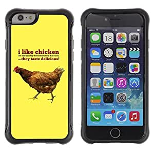Hybrid Anti-Shock Defend Case for Apple iPhone 6 4.7 Inch / I Like Chicknes