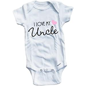 831ff2d0d Amazon.com: Uncle Baby Clothes I Love My Uncle Unisex Newborn Baby ...