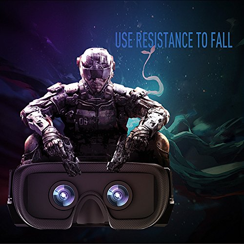 Vnice 3D VR Headset with Remote Controller for Smartphones – black
