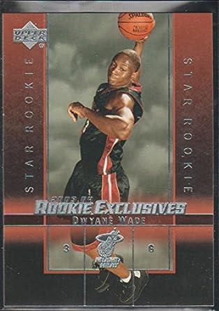 2003 04 Upper Deck Exclusives Dwyane Wade Heat Star Rookie