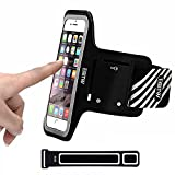"""Sports Cell Phone Armband Case for iPhone Samsung Huawei LG,EOTW Sweatproof Running Arm Bands Pouch Holder for (4.7"""") Similar Sized Smartphones Exercising Gym Walking Cycling (Black 4.7 inch)"""